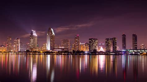 Cityscape Background San Diego Skyline Cityscape Wallpaper Desktop