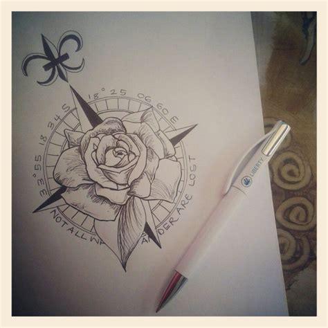 compass rose tattoo caught  eye pinterest compass