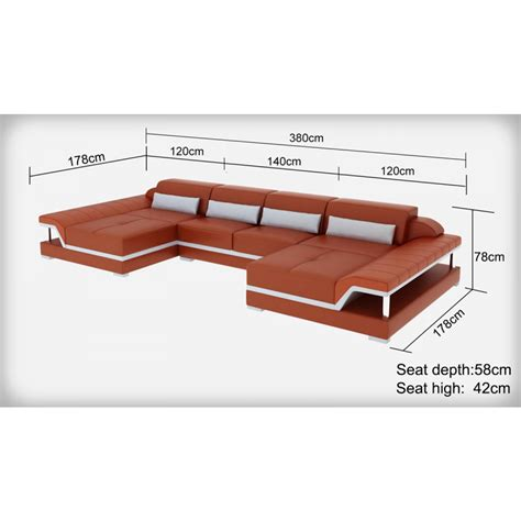 dimension canapé d angle canapé d 39 angle panoramique en cuir pop design fr