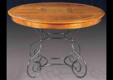 table ronde cuisine acheter votre table ronde piètement fer forgé chez simeuble