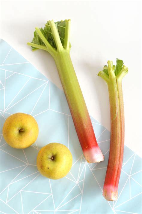 crumble pomme rhubarbe vegan sans gluten sweet sour