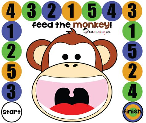 free printable math for toddlers feed the monkey 758   capture