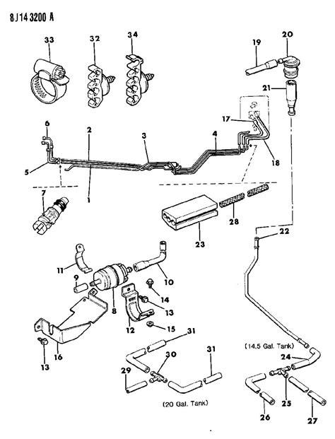 similiar jeep fuel system diagram keywords fuel lines u s and ece wrangler yj for 1989 jeep wrangler