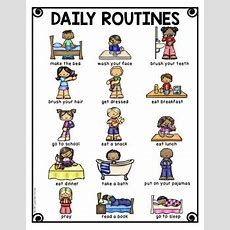 Daily Routines Vocabulary Activities For Beginning Ells Tpt