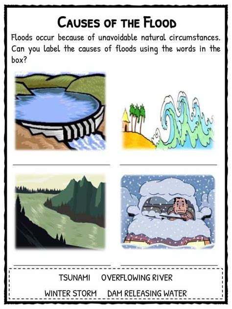 flood facts worksheets information  kids flood