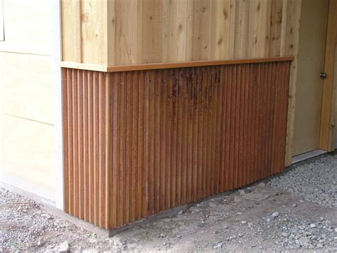 Building Wainscoting Panels by Exterior Metal Wainscoting Ideas Rusting Perfectly