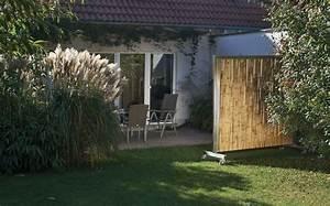 Bambus Edelstahl Sichtschutz : mobilwand ~ Markanthonyermac.com Haus und Dekorationen
