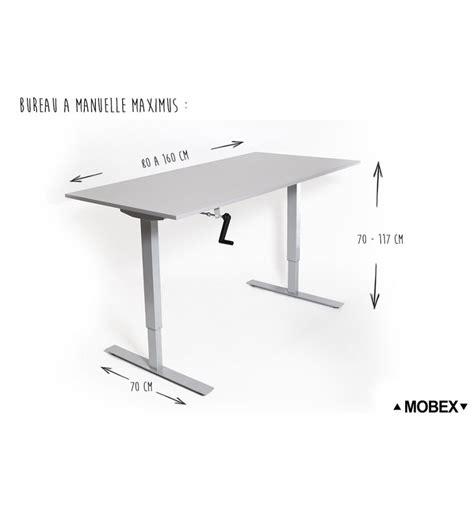 bureau ergonomique reglable en hauteur bureau r 233 glable en hauteur par manivelle maximus de mobex
