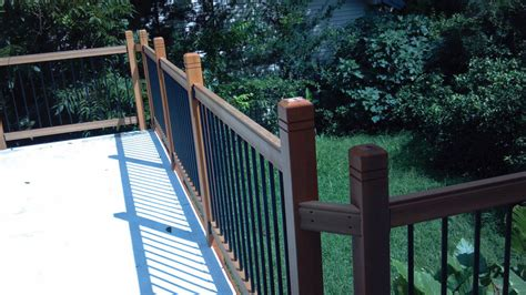Wood Porch Railing Systems by 7 Things To Think About When Installing Deck