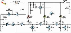 Interactive Toy Traffic Lights Circuit Diagram