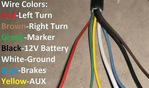 7 Way Trailer Plug Wire Colors  Seven Wire Trailer Diagram