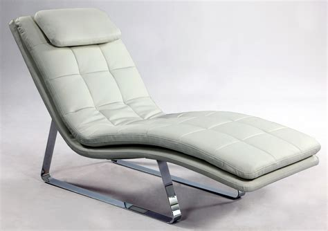 chaise bar bonded leather tufted chaise lounge with chrome legs