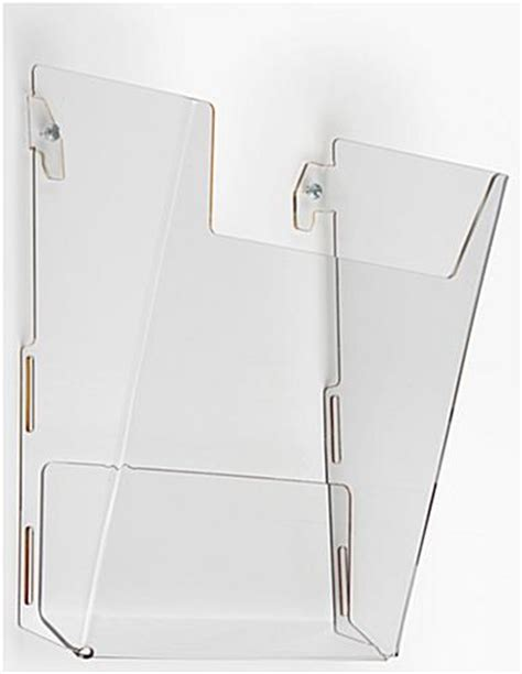 wall mount magazine rack wall magazine rack high impact acrylic pocket