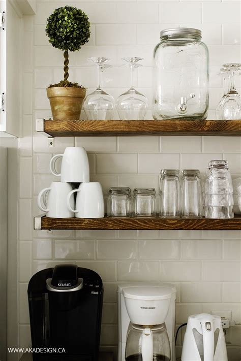 Kitchen Wall Shelves by 17 Best Ideas About Floating Shelves Kitchen On