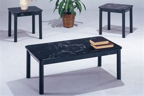 Faux white marble faux marble coffee table. Black Marble Coffee Table Set - Steal-A-Sofa Furniture Outlet Los Angeles CA