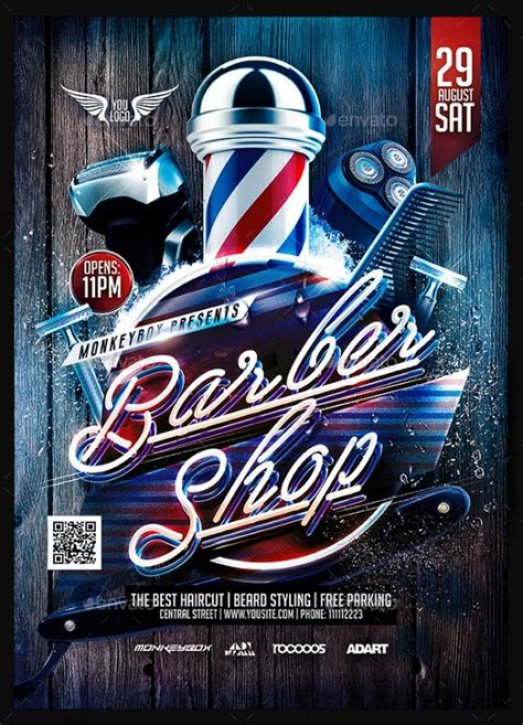 Car Wallpapers Free Psd Flyer Template by 28 Creative Barbershop Flyer Designs Word Psd Ai Eps