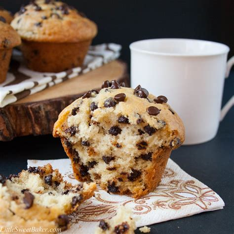 bakery style chocolate chip muffins keeprecipes