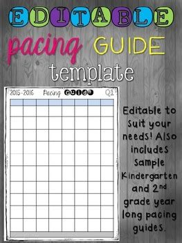 editable pacing guide template   grade sizzle