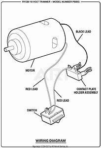 Homelite P600g 18 Volt Trimmer Parts Diagram For Wiring