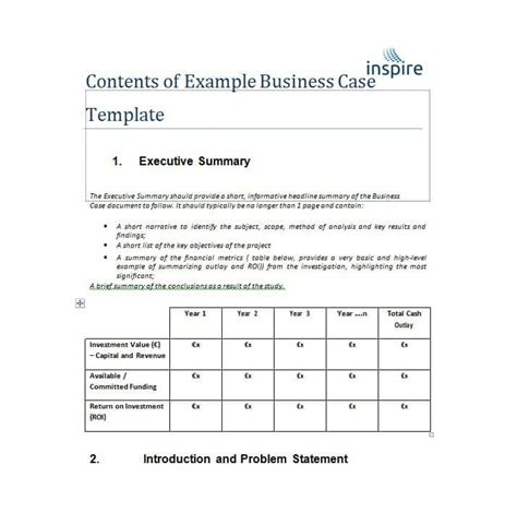 30 simple business case templates exles ᐅ template lab
