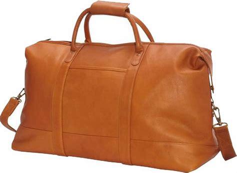edmond leather deluxe weekender leather duffle bag