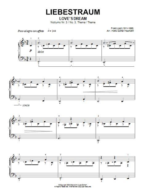 Liebestraum, Notturno No 3 (love's Dream)  Sheet Music