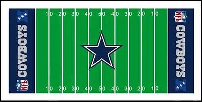 Football Field Cowboy Dallas Clipart Clip Cliparts