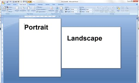 Landscape Format Portrait And Landscape Orientation In Word And Excel
