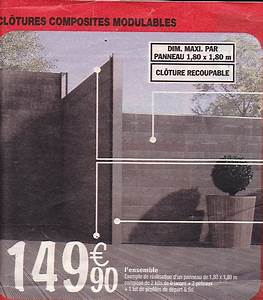Cloture Composite Brico Depot : probl me avec panneau de cloture brico d p t ~ Nature-et-papiers.com Idées de Décoration
