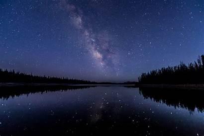 Water 5k Reflection Lake Stars Milkway Wallpapers