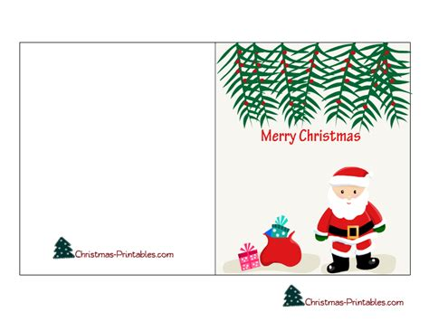 8 best images of printable christmas gift cards free