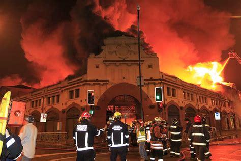 Un Incendio Destruyó El Mercado De Temuco Soychilecl