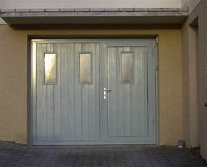 porte de garage avec portillon integre cobtsacom With porte de garage sectionnelle jumelé avec serrure tordjman
