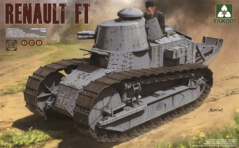 french renault tank french light tank renault ft 17 3 in 1 takom 1004