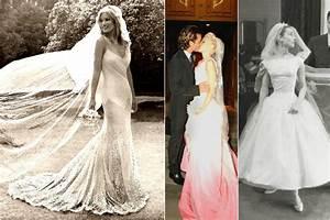 celebrity wedding dress inspiration With famous wedding dresses