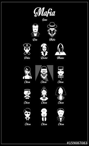 vector illustration mafia play game card design  vintage