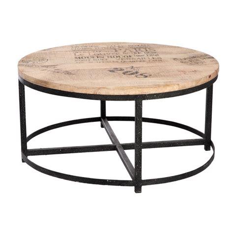 Table Basse Ronde ø 90cm  Loft  Table Salon Bar Bois