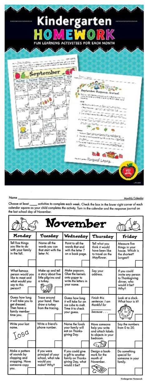 kindergarten homework fun learning activities
