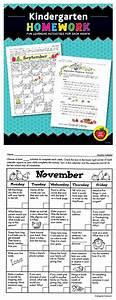 Blank Printable Calendars Kindergarten Homework Fun Learning Activities For Each