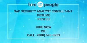 Sap Security Analyst Consultant Resume Profile - Hire It People