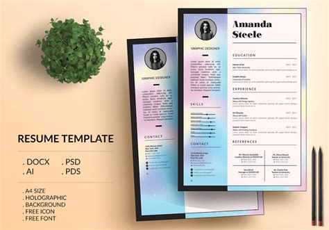 resume templates  word    photoshop