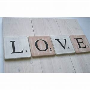 Lettre En Bois A Poser : lettres d coratives en bois 10 cm blanc patin ~ Teatrodelosmanantiales.com Idées de Décoration