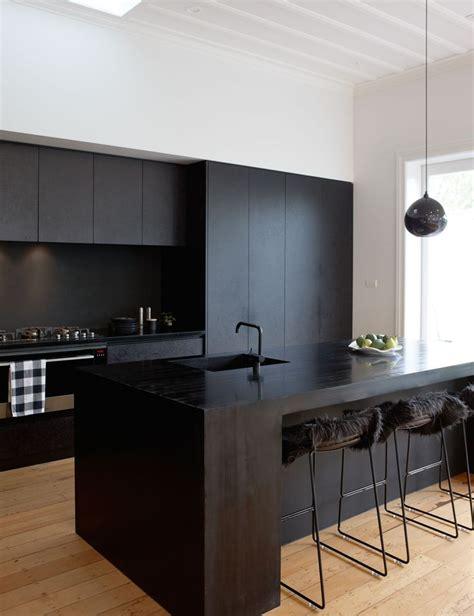 matte black kitchen   bold statement