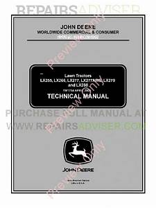 John Deere Lx255 288 Tractors Technical Manual Pdf