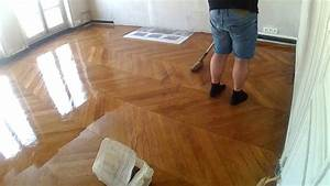 point de hongrie vitrification parquet youtube With vitrification de parquet