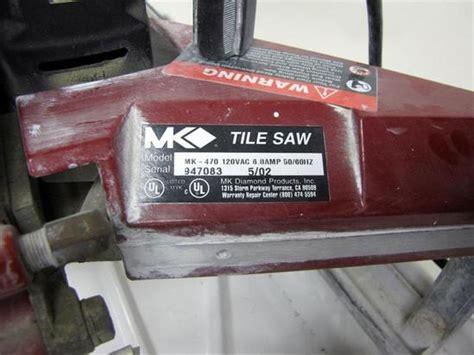 mk diamond heavy duty model mk 470 wet tile saw w built