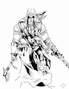 assassins_creed_3_inked_by_whitekidz-d4s1hjt | Coloriage ...