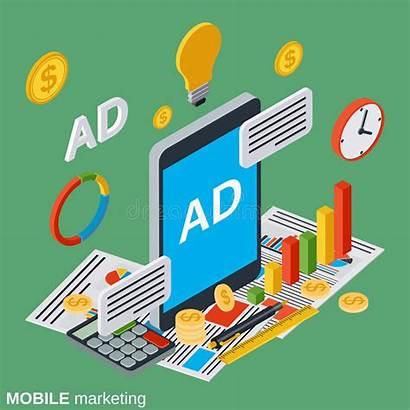 Marketing Advertising Digital Illustration Mobile Vector Concept