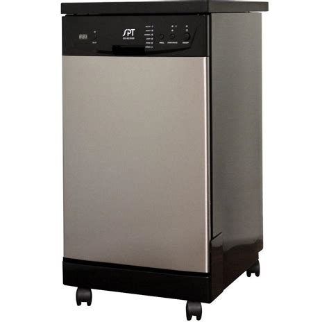 Spt 18 In Front Control Portable Dishwasher In Stainless