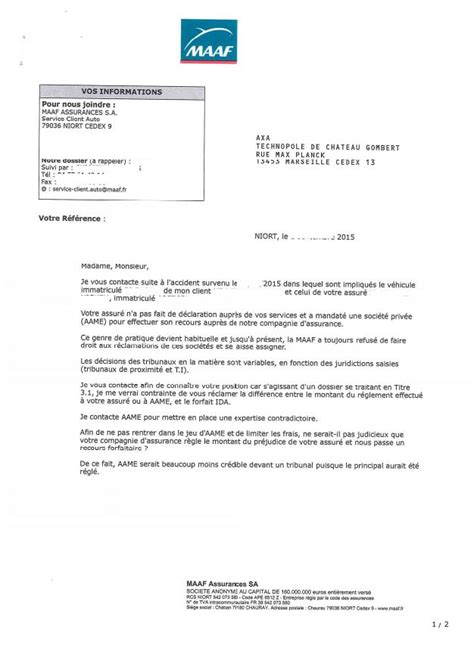 document recours direct quand la maaf contourne le droit du non responsable apres vente